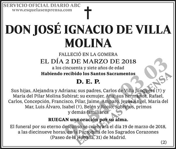 José Ignacio de Villa Molina